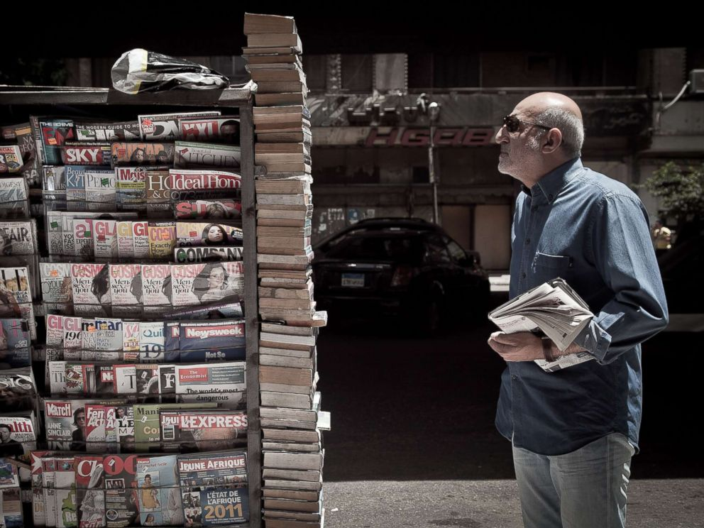 PHOTO: Newspaper kiosks are pictured in Zamalek, May 17, 2011 in Cairo, Egypt.
