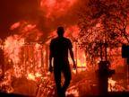 PHOTO: Jim Stites watches part of his neighborhood burn in Fountaingrove, Calif., Oct. 9, 2017.