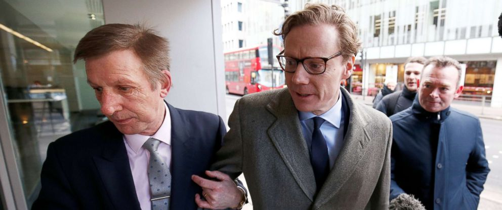 PHOTO: Alexander Nix, CEO of Cambridge Analytica, arrives at the offices of Cambridge Analytica in central London, March 20, 2018.