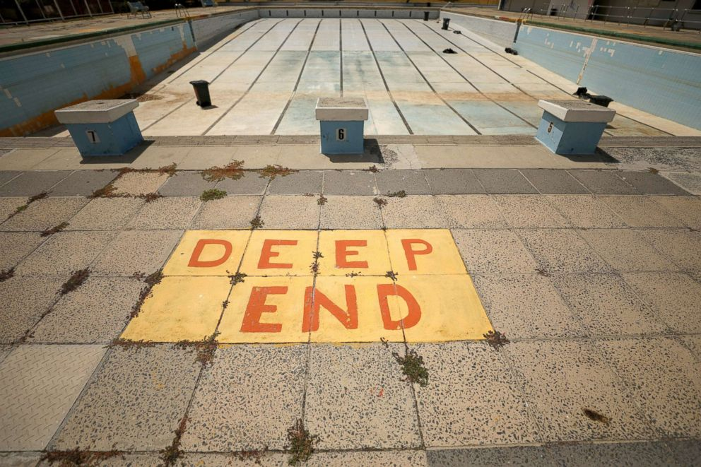 PHOTO: Newlands swimming pool sits empty in Cape Town, South Africa, Feb. 9, 2018.