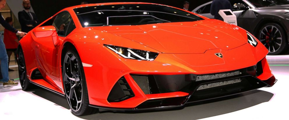 PHOTO: A Lamborghini is pictured at the Geneva International Motor Show Auto Show, March 05 2019.