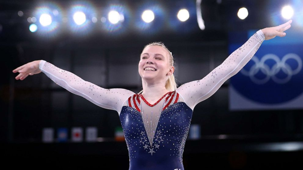 Jade Carey wins gold, Simone Biles to compete in balance beam finals: Olympic Games Day 10