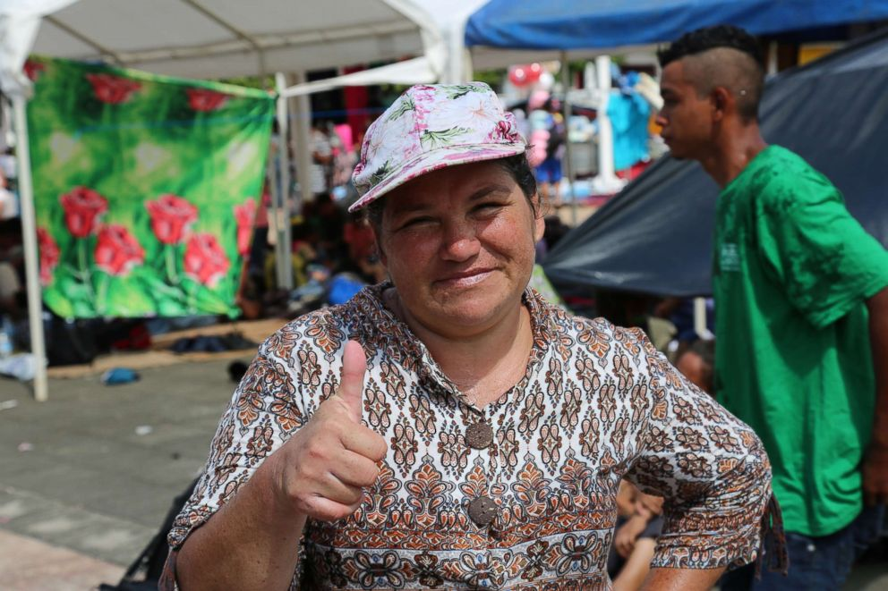 PHOTO: Ann Louisa is from Guatemala City and joined the caravan of migrants making their way to the U.S. border.