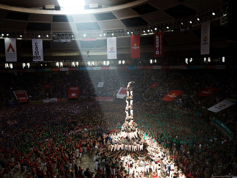 Stunning pictures show Catalonia's 'human towers,' a