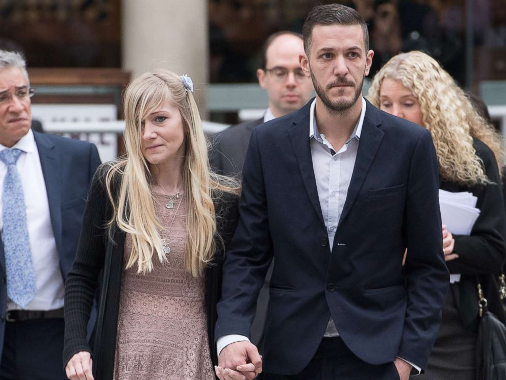 PHOTO: Chris Gard and Connie Yates, the parents of terminally ill baby Charlie Gard, arrive at The Royal Courts of Justice, July 24, 2017, in London.