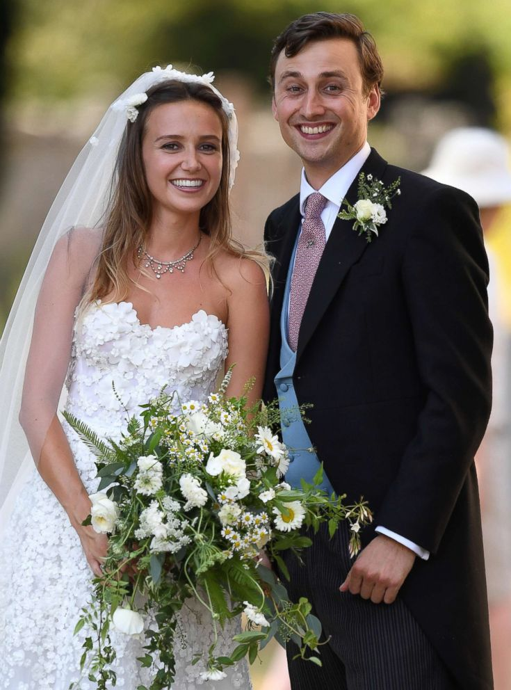 PHOTO: Charlie Van Straubenzee and Daisy Jenks are pictured at their wedding at St. Mary the Virgin Church, in Frensham, Surrey, U.K., Aug. 4, 2018. 2018.