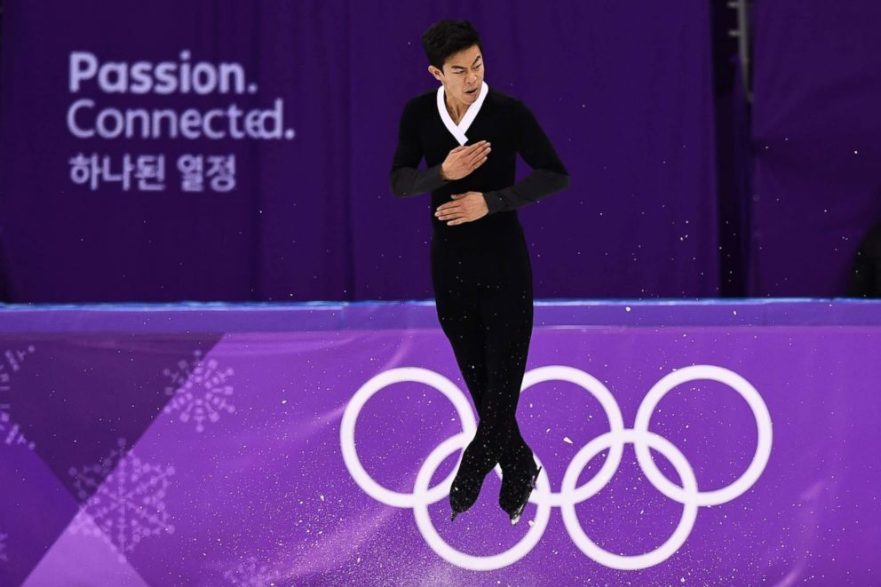 PHOTO: USAs Nathan Chen competes in the mens single skating free skating of the figure skating event during the Pyeongchang 2018 Winter Olympic Games at the Gangneung Ice Arena in Gangneung, Feb. 17, 2018.