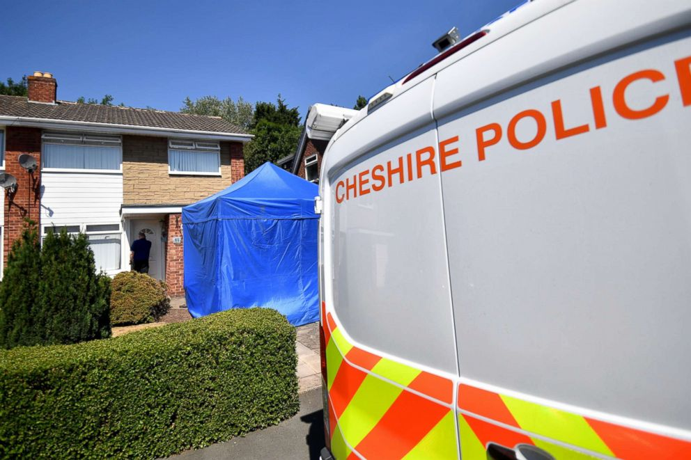 PHOTO: A police tent is seen outside number 41 Westbourne Road in Chester after a healthcare professional working at the Countess of Chester Hospital was arrested on suspicion of murdering eight babies.