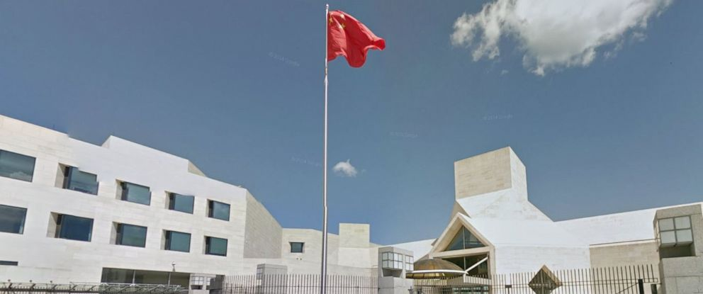 PHOTO: A Google Maps Street view of the Chinese embassy in Washington, D.C.