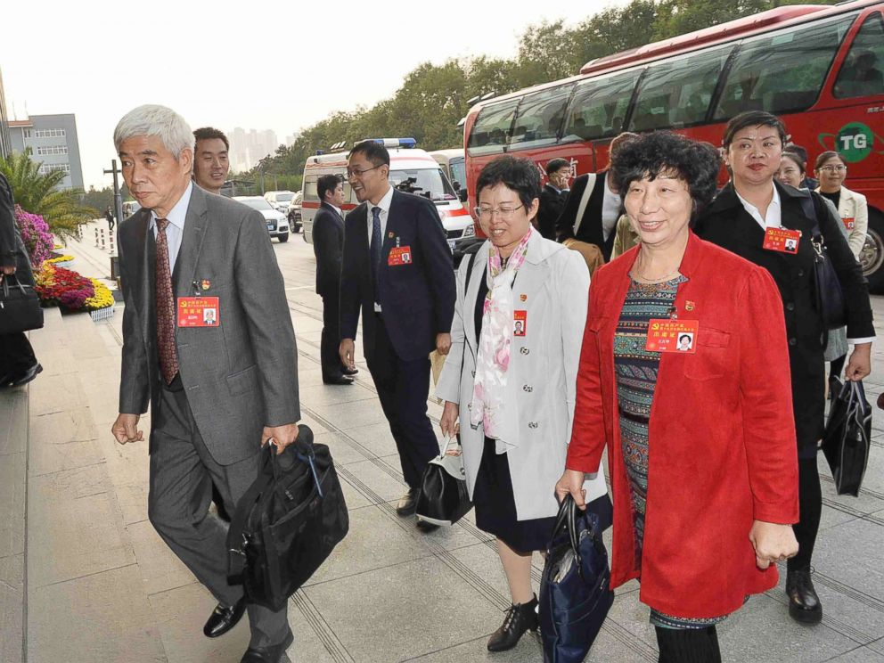 PHOTO: Delegates of Tianjin Municipality to the 19th National Congress of the Communist Party of China (CPC) arrive in Beijing, capital of China, Oct. 16, 2017.