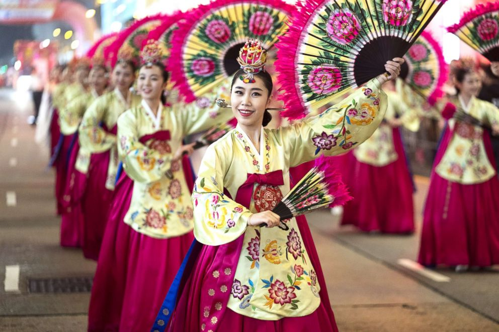 Dancers from the Korean National University of the Arts perform on Feb. 5, 2019, in Hong Kong.
