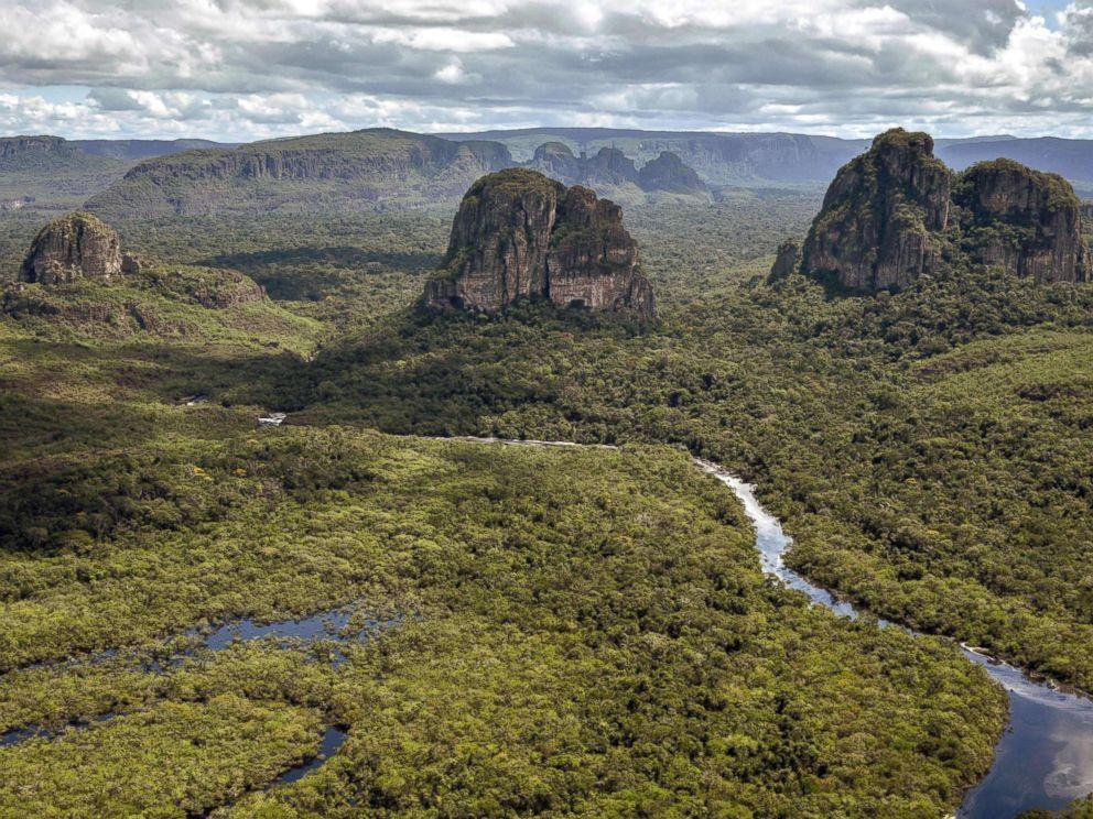PHOTO: Aerial view of the Serrania de Chiribiquete, located in the Amazonian jungle departments of Caqueta and Guaviare, Colombia, June 7, 2018.
