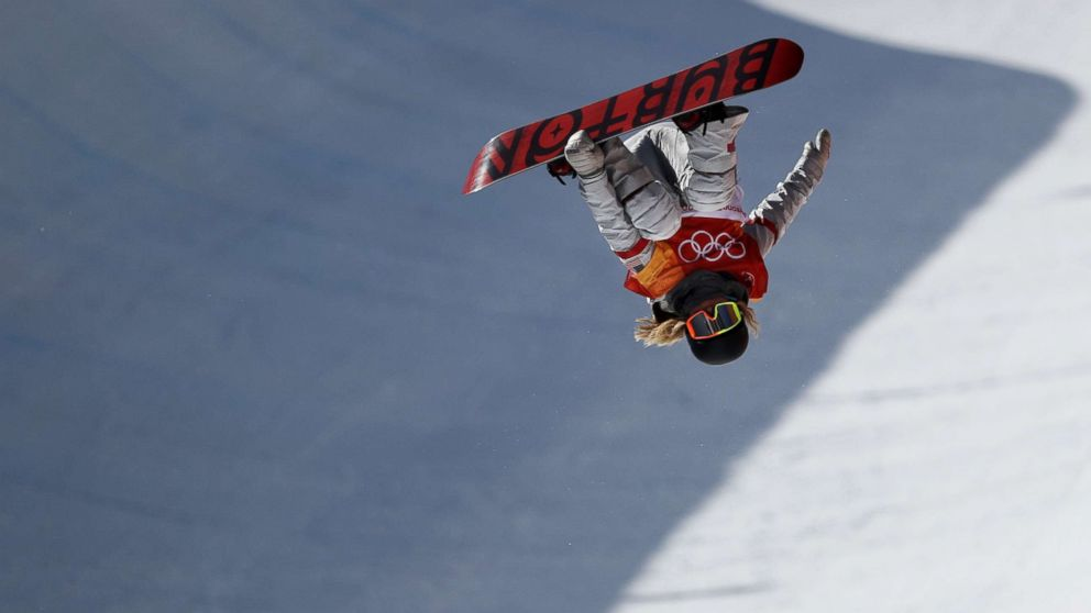 Chloe Kim of the U.S. during the snowboard ladies' halfpipe final on day four of the Pyeongchang 2018 Winter Olympic Games at Phoenix Snow Park, Feb. 13, 2018, in Pyeongchang, South Korea.