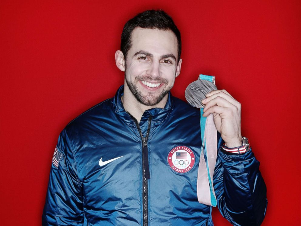 PHOTO: Silver medalist in the luge mens singles Chris Mazdzer of the U.S. poses for a portrait on the Today Show Set, Feb. 12, 2018, in Gangneung, South Korea.