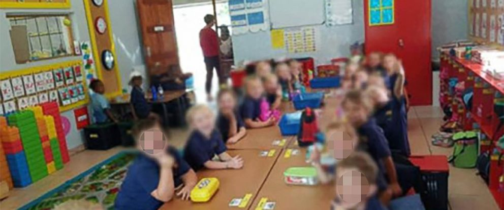 PHOTO: This photo, widely shared on social media, shows four black children sitting separately from their white classmates and is part of an investigation launched by North West Provincial Education Department.