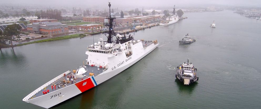 PHOTO: Coast Guard Cutter Bertholf, a 418-foot national security cutter, departed Alameda, California, for a patrol in the Western Pacific Ocean on Jan. 20, 2019, despite the partial government shutdown that left the Coast Guard without funding.