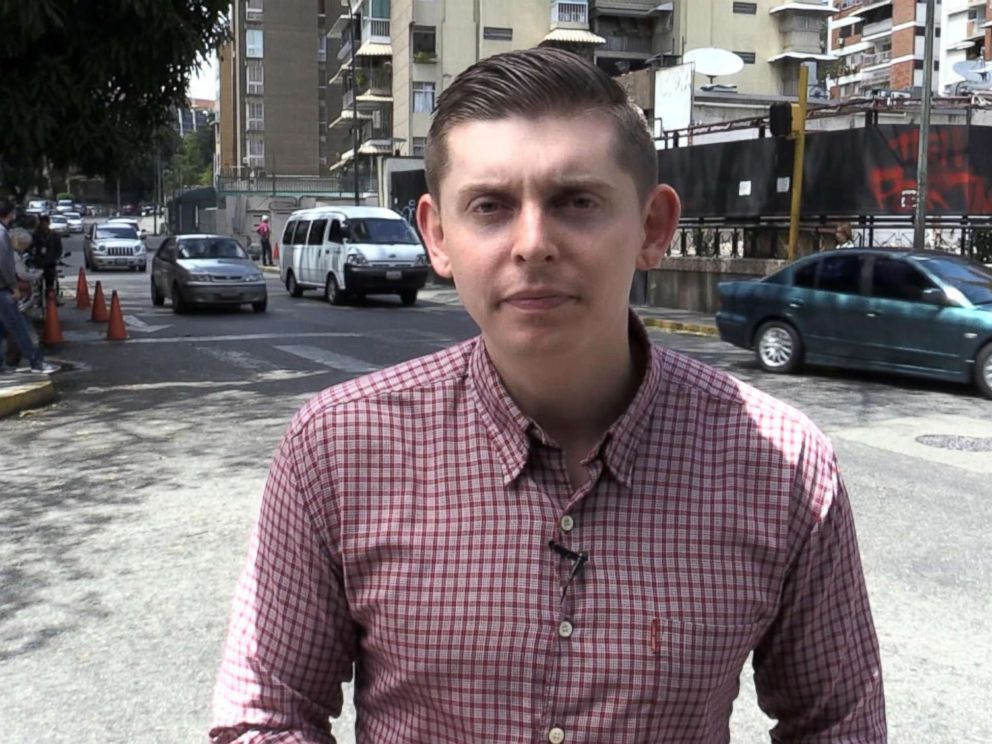 PHOTO: Reporter Cody Weddle reports for ABC News from Venezuela, Feb. 13, 2019.