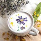 """South Korean barista Lee Kang Bin, 27, creates """"cream art"""" in lattes."""