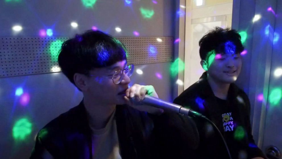 PHOTO: Coin-operated karaoke machines are exploding in popularity in South Korea.
