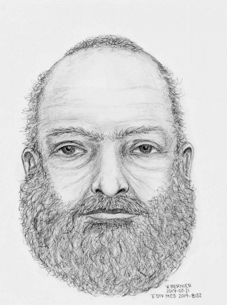 PHOTO: A composite sketch of an unidentified man found dead near the burning truck belonging to two missing teens, Kam McLeod and Bryer Schmegesky.