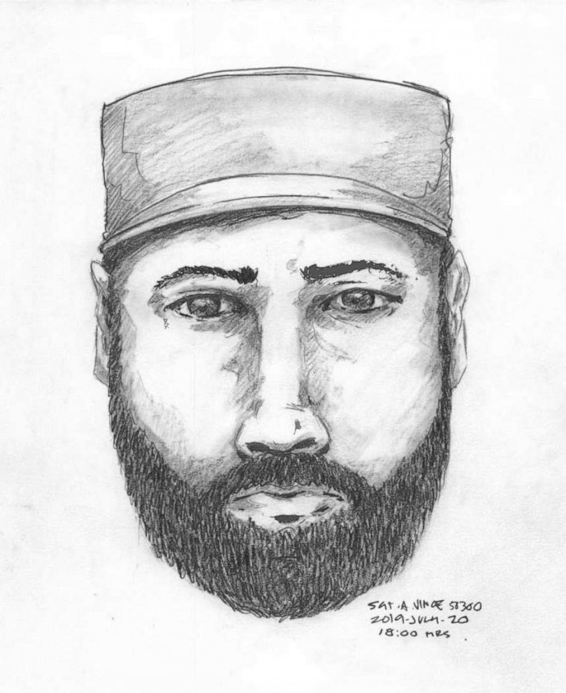 PHOTO: A composite sketch of a man seen talking to Lucas Robertson Fowler on British Columbia Highway 97 on July 14. The following day, Fowler and his girlfriend, Chynna Noelle.