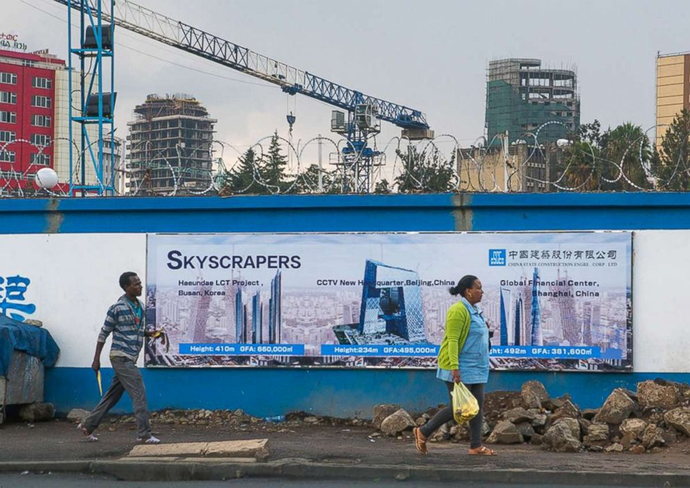 PHOTO: Construction site for a new Chinese operated building, March 7, 2016, in Addis Ababa, Ethiopia.
