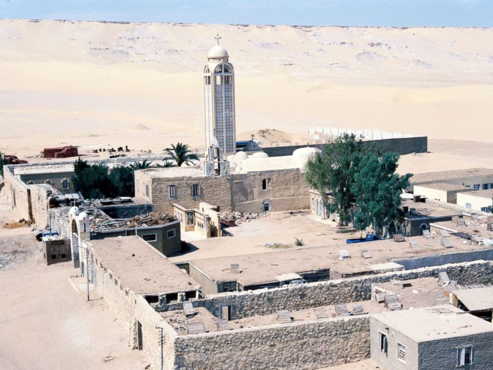 PHOTO: An undated picture made available in 2017 shows the Monastery of St. Samuel the Confessor in Minya Province, central Egypt.
