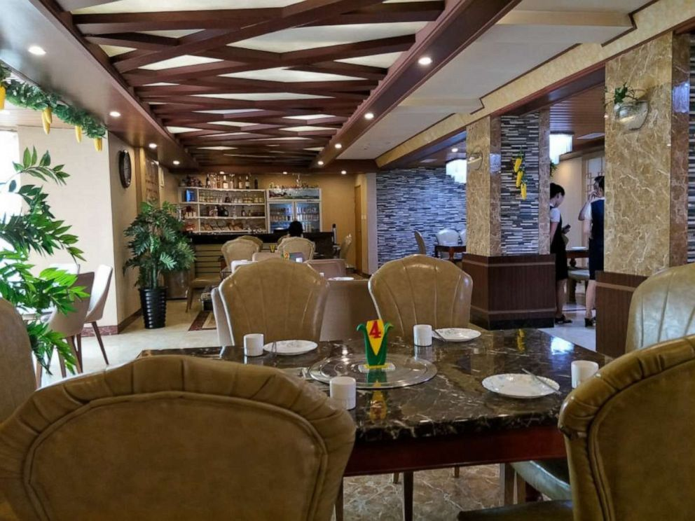 PHOTO: The dining room at a corn specialty restaurant, Pyongyang, North Korea, Sept. 15, 2018.