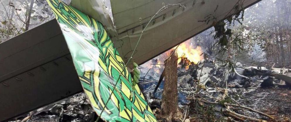 PHOTO: A plane crashed in Guanacaste, Costa Rica, in the Punta Islita area, Dec. 31, 2017.