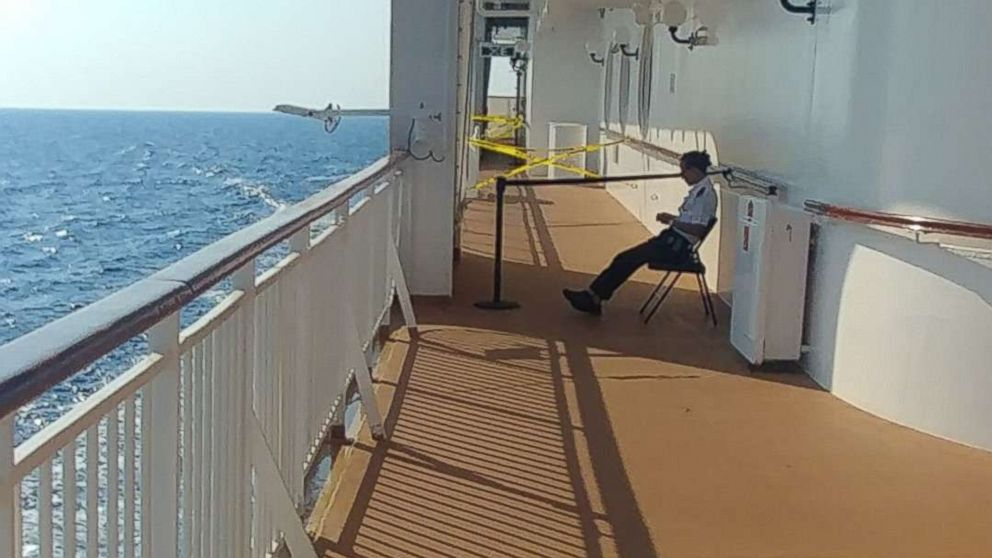 Clay Barclay, a passenger on the Norwegian Star from Alabama, shared a photo of the location where a woman fell off the ship on Sunday, Aug. 19, 2018.