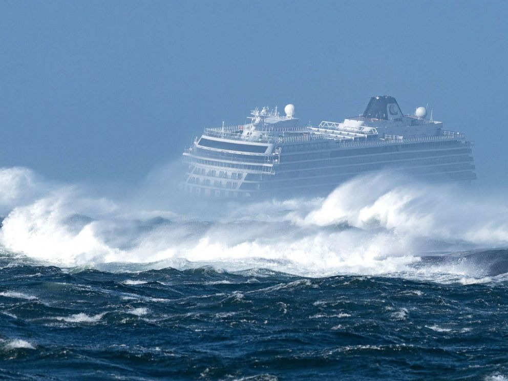 PHOTO: A cruise ship went adrift off the waters of Norway on March 23, 2019, and passengers were being evacuated.