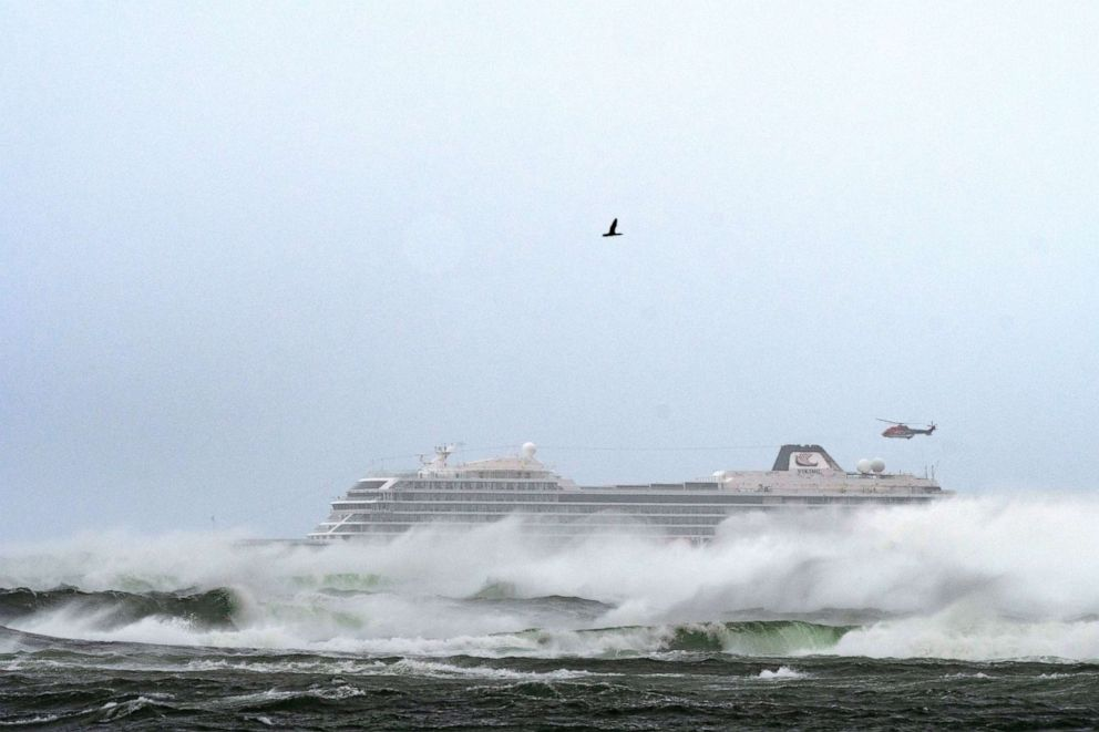 PHOTO: A cruise ship went adrift off the waters of Norway on March 23, 2019, and passengers were being evacuated