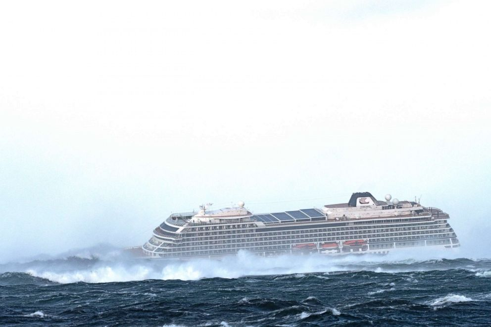 PHOTO: Viking Ocean Cruises The Viking Sky cruise ship is trying to restart engines while 1300 people await rescue.