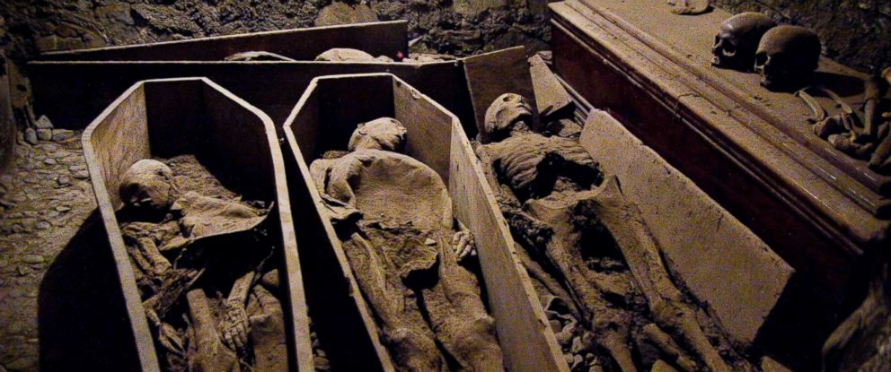 PHOTO: St. Michans Church in Dublin has a series of crypts, which house naturally mummified corpses.