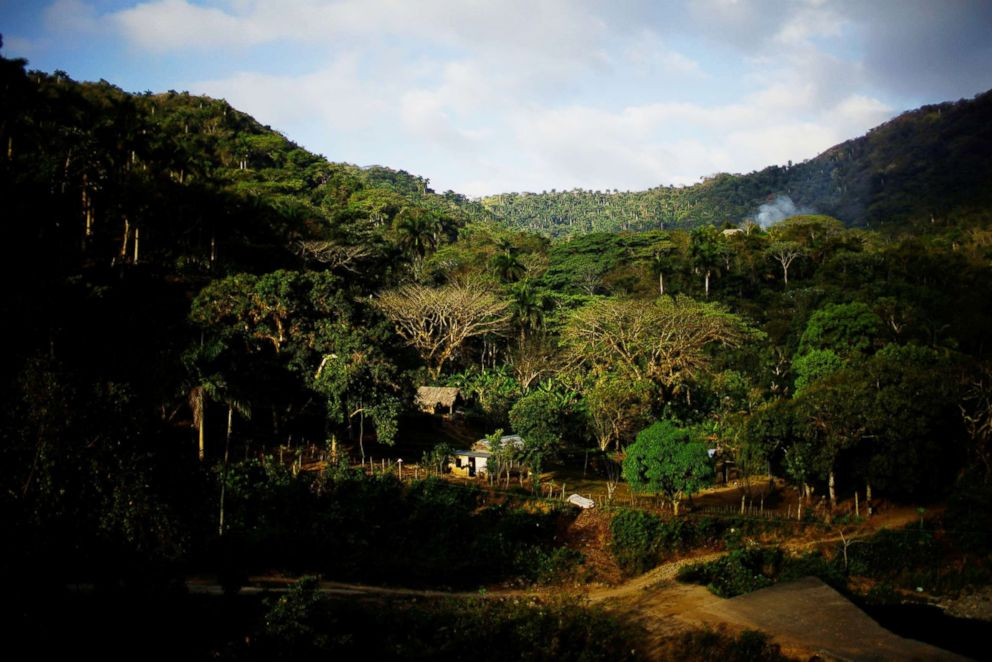 PHOTO: The village of Santo Domingo is seen in the Sierra Maestra, Cuba, March 30, 2018.