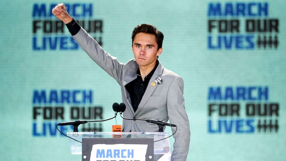 Marjory Stoneman Douglas High School Student David Hogg addresses the March for Our Lives rally on March 24, 2018, in Washington, D.C.