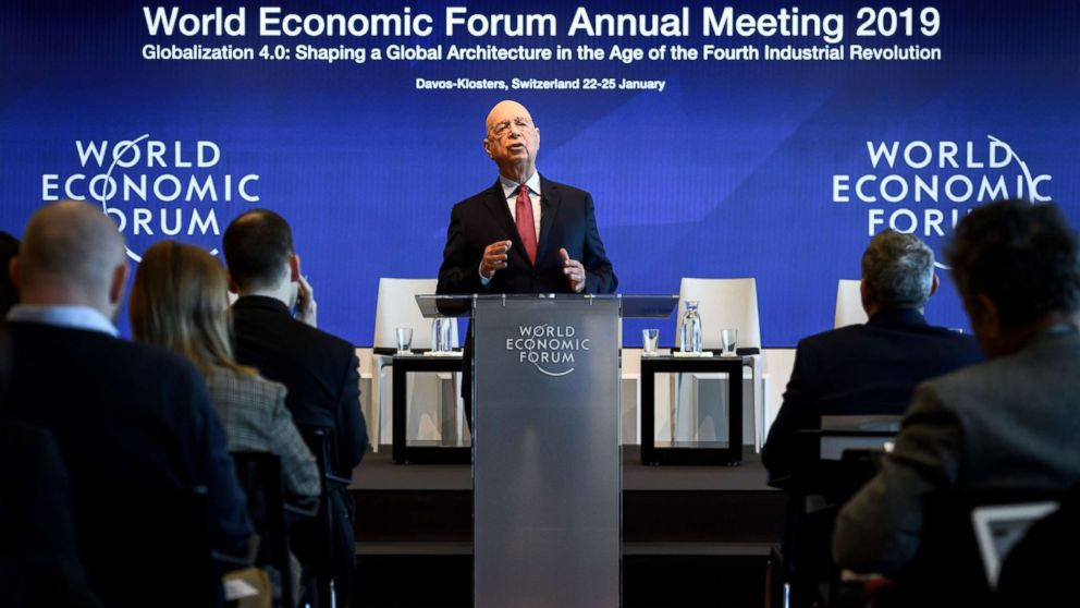 Founder and Executive Chairman of the World Economic Forum Klaus Schwab attends a press conference ahead of the 2019 edition of the annual meeting, Jan. 15, 2019 in Geneva.