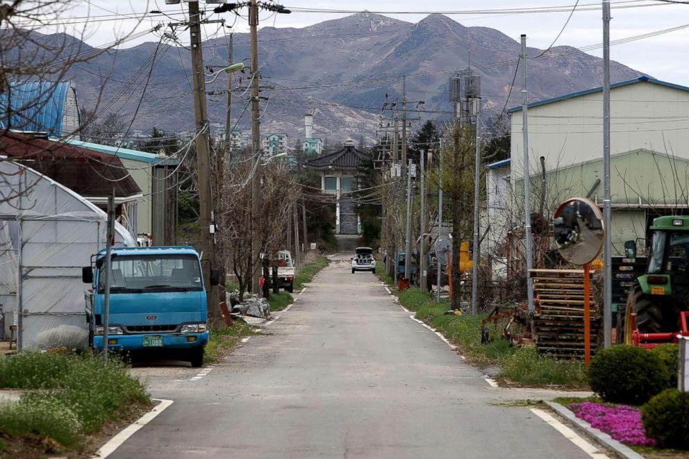 PHOTO: South Koreas Taesung Freedom village, April 24, 2018, in Paju, South Korea.
