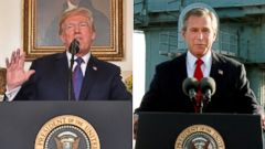 "Politician Direct donald-trump-george-w-bush-split-gty-ap-jt-180414_hpMain_16x9t_240 Trump tweets two words that haunted Bush: 'Mission Accomplished!"" ABC Politics  Politics"