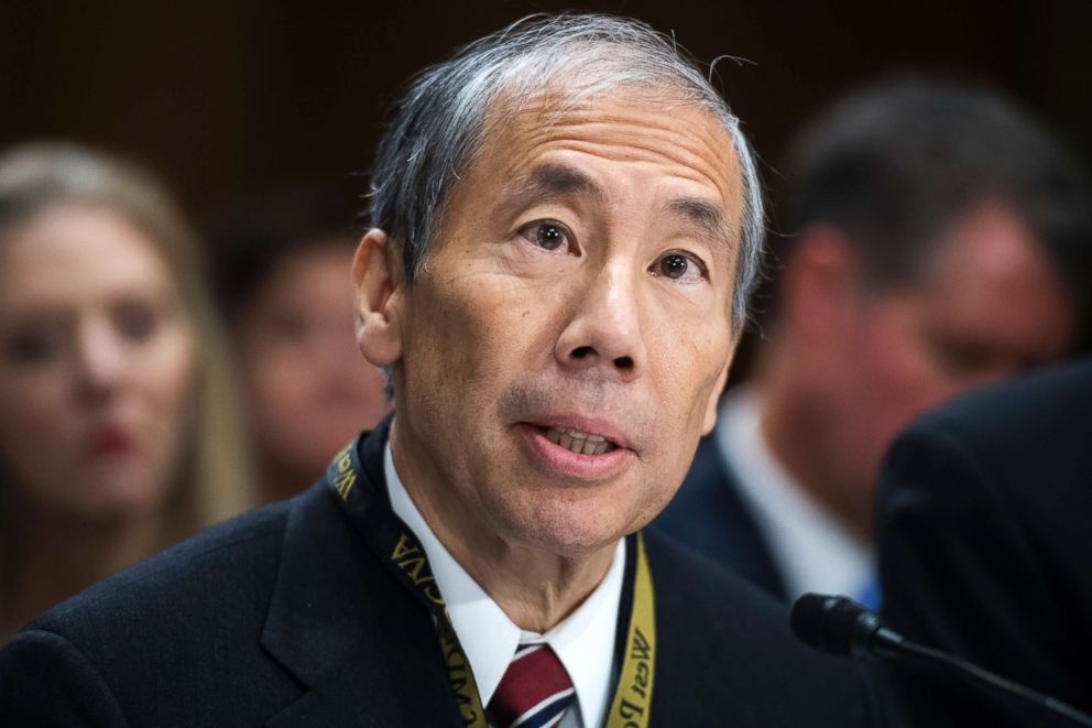 PHOTO: Donald Yamamoto, nominee to be U.S. ambassador to Somalia, testifies during a Senate Foreign Relations Committee confirmation hearing in Dirksen Building, Aug. 23, 2018.