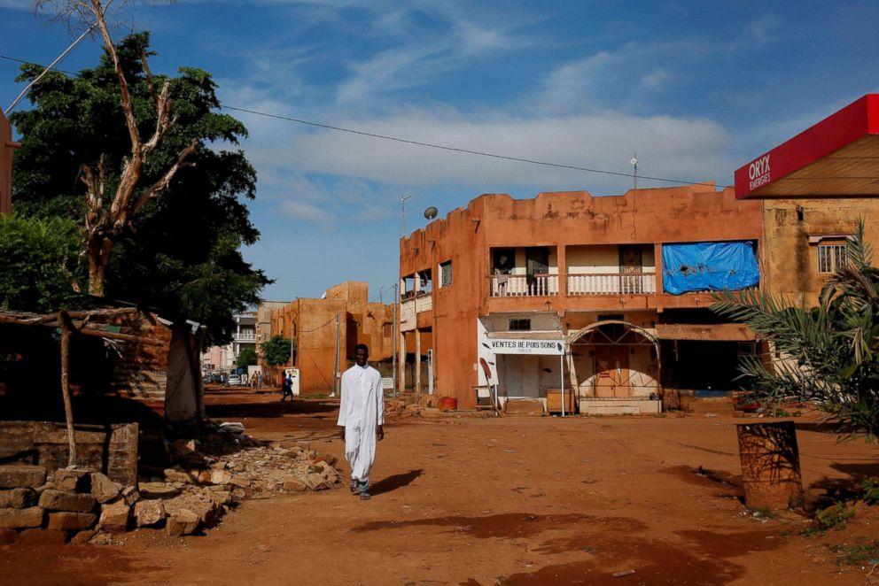 PHOTO: A man walks in a street in Bamako, Mali, Aug. 21, 2018.