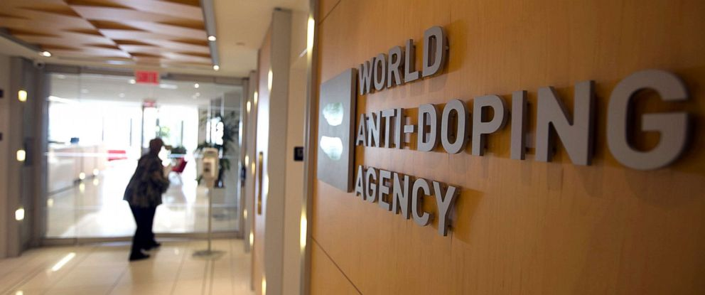 PHOTO: A woman walks into the head office of the World Anti-Doping Agency (WADA) in Montreal, Quebec, Canada, Nov. 9, 2015.