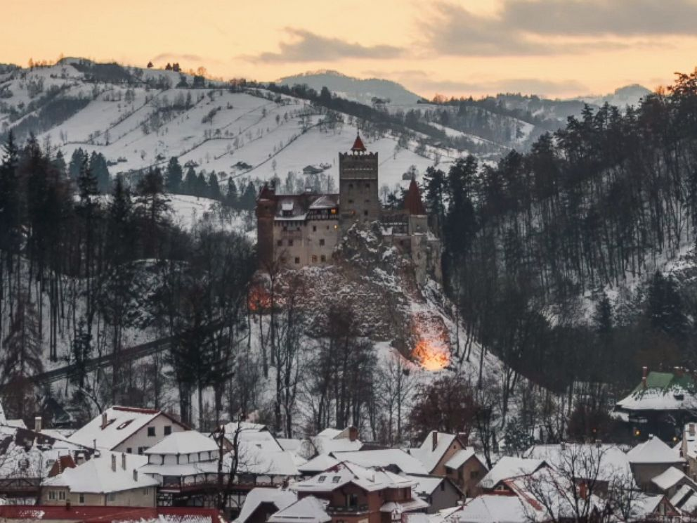 PHOTO: Dracula is the most famous resident of Romanias frost covered mountains.