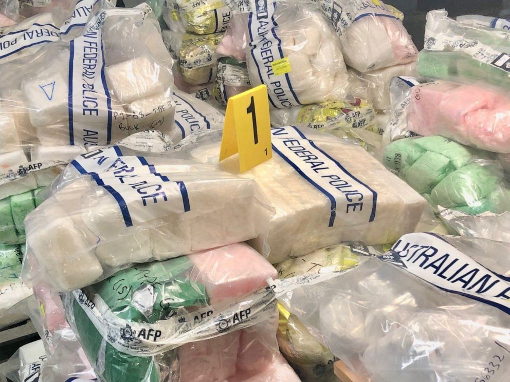 PHOTO: Australian authorities released this image of a massive drug bust which included methamphetamine and heroin.