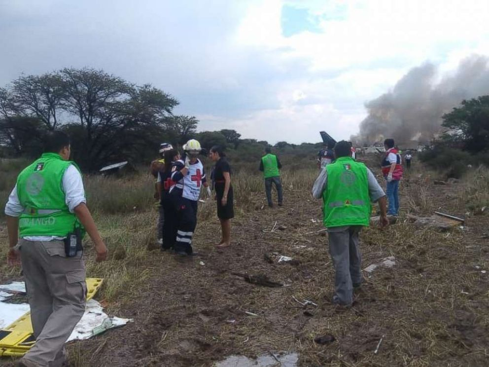 PHOTO: An accident has been reported at the Guadalupe Victoria Airport in Durango, Mexico. There are no official figures on injured or deceased.