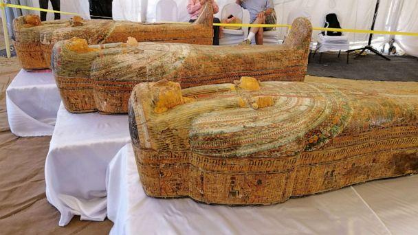 Egypt unveils 3,000-year-old wooden coffins in Luxor