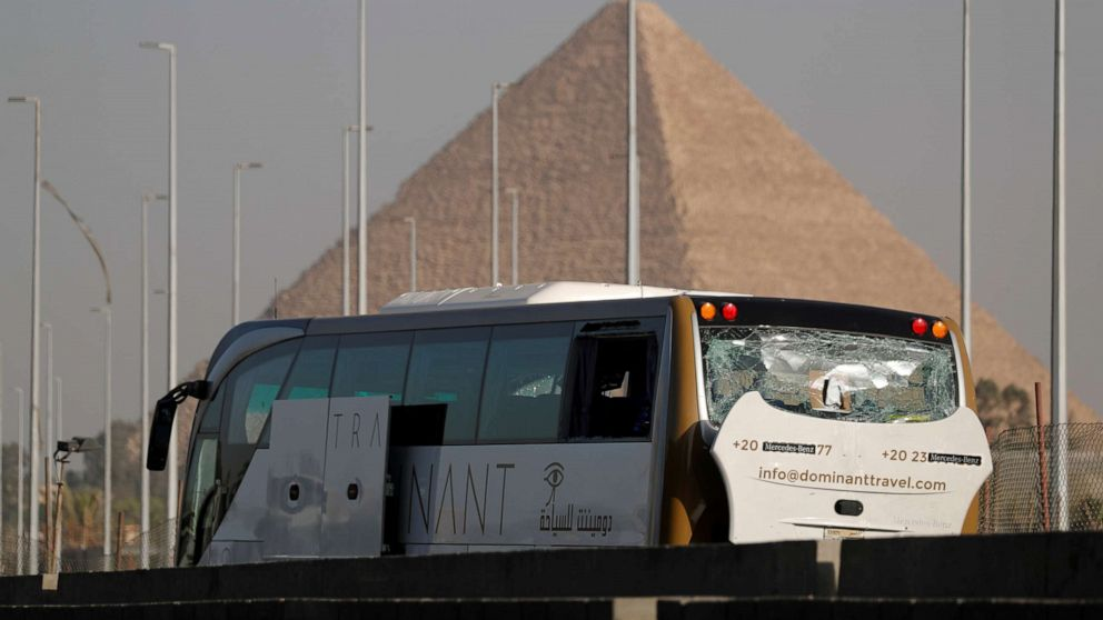 Tourist bus bombed near Egypt's famed pyramids, injuries reported thumbnail
