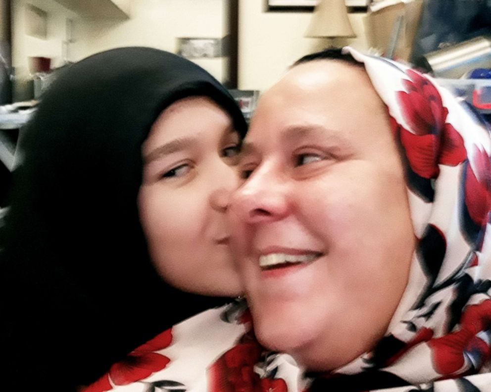 PHOTO: Lloyd and her daughter, Grace, both took part in the 30-Day Hijab challenge this year.