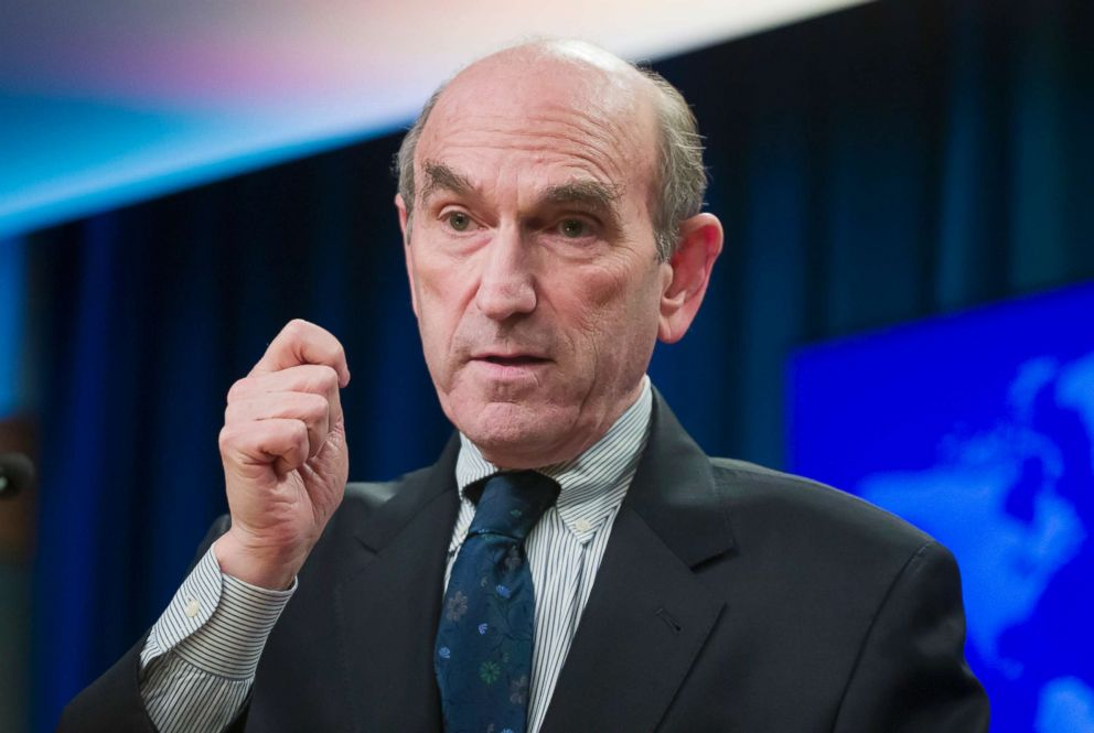 U.S. special envoy for Venezuela Elliott Abrams speaks during a media availability at the State Department in Washington, D.C., Feb. 7, 2019.