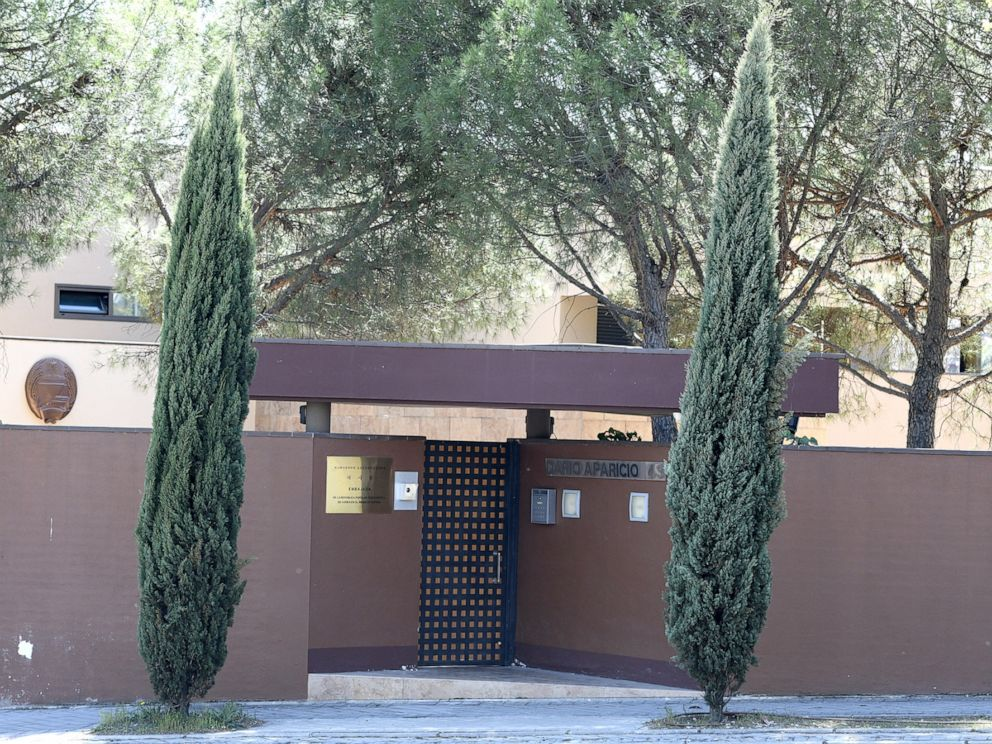 PHOTO: An outside view of the Embassy of North Korea in Madrid, Spain, March 27, 2019.